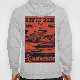 Vintage Auto Races Poster Hoody