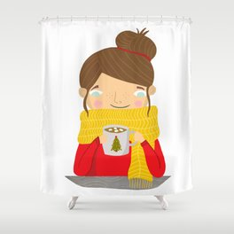 Hot Cocoa Shower Curtain