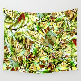 Crystal Golden Yellow Emerald Gems Wall Tapestry