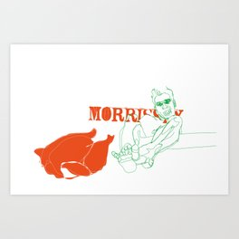 Morrissey wants some chicken Art Print