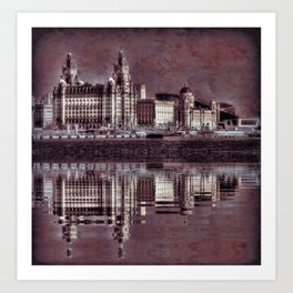 thee graces reflected Art Print