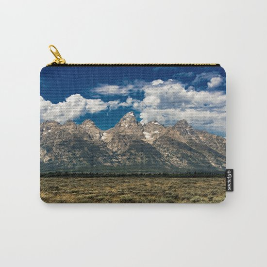 The Grand Tetons - Summer Mountains Carry-All Pouch