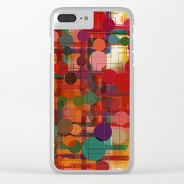 Festival of Lights Connect the Dots Abstract Clear iPhone Case
