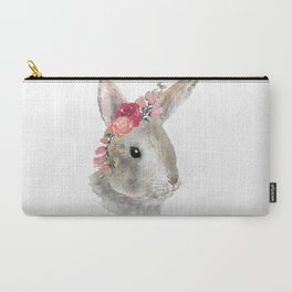 bunny with flower crown Carry-All Pouch