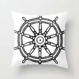 Ship's Helm - Captain's Wheel - Rudder Throw Pillow