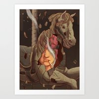 catcher in the rye Art Prints featuring The Catcher in the Rye by Malcolm Loo