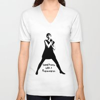 karen hallion V-neck T-shirts featuring Karen O Yeah Yeah Yeahs  by hello Malcolm