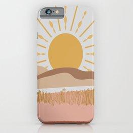 Bright Yellow Sun iPhone Case
