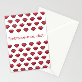 Embrasse-moi, idiot ! Stationery Cards