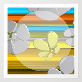 WHITE FLOWER IN POMP Art Print