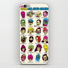 The League of Cliché Evil Super-Villains iPhone Skin