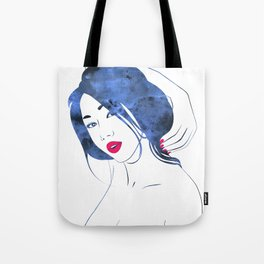 Red Maquillage Tote Bag