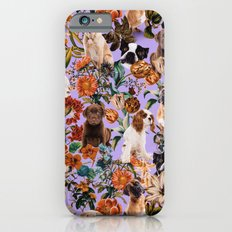 Dog and Floral Pattern Slim Case iPhone 6