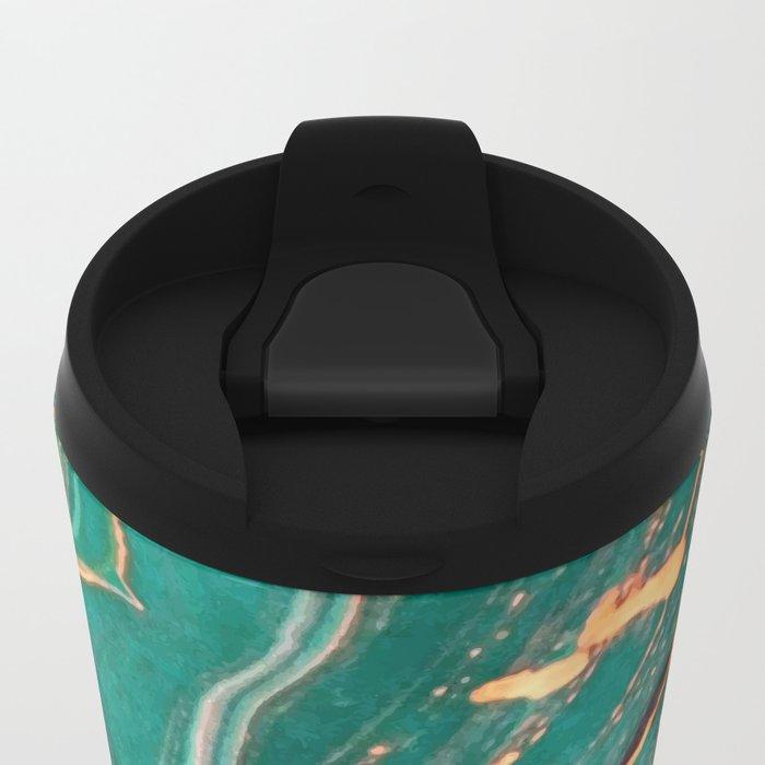 Ocean Gold Metal Travel Mug
