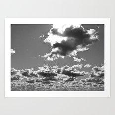 marshmallow sky Art Print