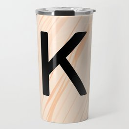 Scrabble Letter K - Large Scrabble Tiles Travel Mug