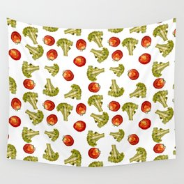 Broccoli and tomato Wall Tapestry