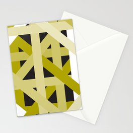 Gold Structural Lines Pattern Stationery Cards