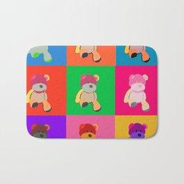 Pop Art Teddy Bear Bath Mat
