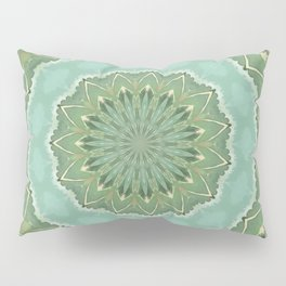 Succulent Mandala Pillow Sham