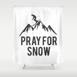 ski snow winter gift skiing winter sports skier Shower Curtain