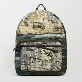 Cliffs and river Backpack
