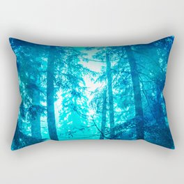 Blue Frost Woods Rectangular Pillow