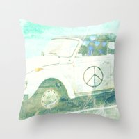 bug Throw Pillows featuring ♥ BUG by RDelean