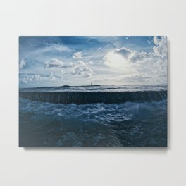 Pacific Breakwalls Metal Print