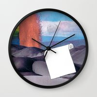 tool Wall Clocks featuring Spill Tool by Ventral Is Golden