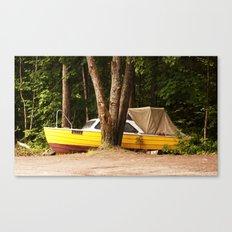 Sailing through norwegian woods Canvas Print