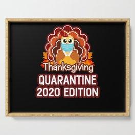 Social Distnacing Turkey Thanksgiving Quarantine Serving Tray