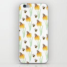 Rudbeckia Cone Flowers & Bumble Bees iPhone Skin