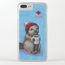 Canadian Beaver Clear iPhone Case