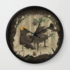 Forestal Sounds Wall Clock