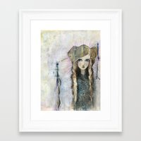 jane davenport Framed Art Prints featuring Gesso Geisha by Jane Davenport by Jane Davenport