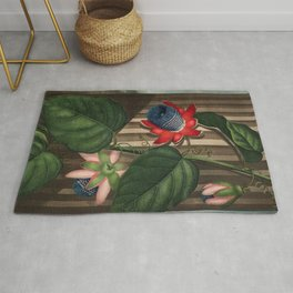 Winged Passion Flowers : Temple of Flora Rug