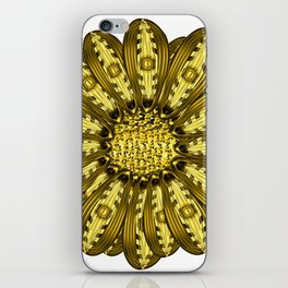 """Gold"" Gazania Flower Special Edition 2 (Clear Back) iPhone Skin"
