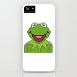 Kermit The Muppets Pixel Character iPhone Case