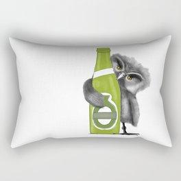 owl with Beer Rectangular Pillow