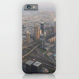 Dubai Emirates UAE Megapolis From above Skyscrapers Cities megalopolis iPhone Case