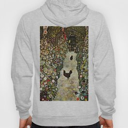 """Gustav Klimt """"Garden Path with Chickens"""" Hoody"""