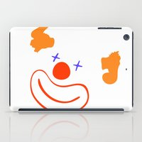 clown iPad Cases featuring clown by siloto