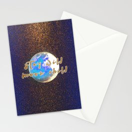 Stay Wild Moon Child Glitter Moon Stationery Cards