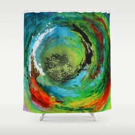 Maelstrom, captivating abstract painting Shower Curtain