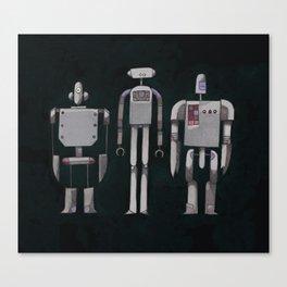 Three robots Canvas Print