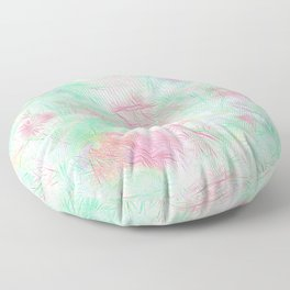 Tangled Green Fireworks Floor Pillow