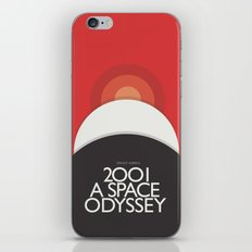 2001 A Space Odyssey - Stanley Kubrick movie Poster, Red Version iPhone & iPod Skin