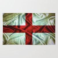 england Area & Throw Rugs featuring England flag. by DesignAstur