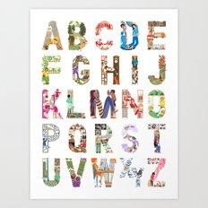 ABC of professions Art Print